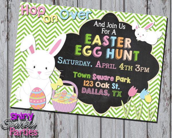 Printable Easter Egg Hunt Invitation (Digital File Only)