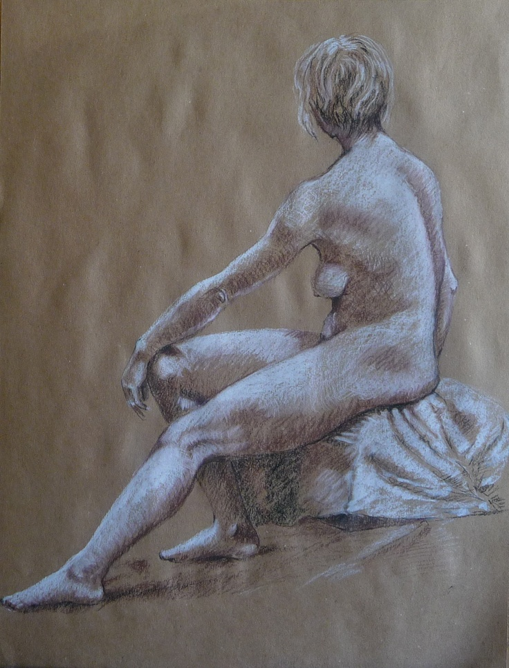 I did this 20 minute drawing in Life Drawing class.