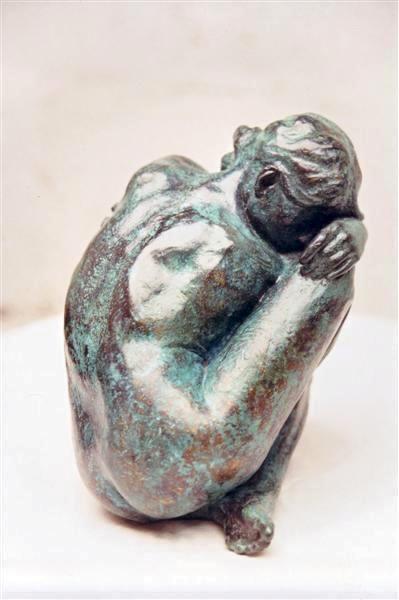 petite - Sculpture,  13x15x10 cm ©2003 par withan -                                                        Art figuratif, Bronze, Nu