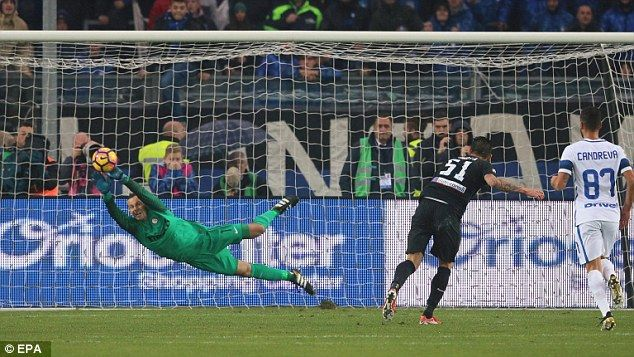 An 88th-minute Mauricio Pinilla penalty condemned Inter to a fourth loss in five games