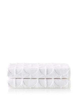 70% OFF Garnier-Thiebaut Ligne O Bouleau Set of 2 Bath Towels (Neige)