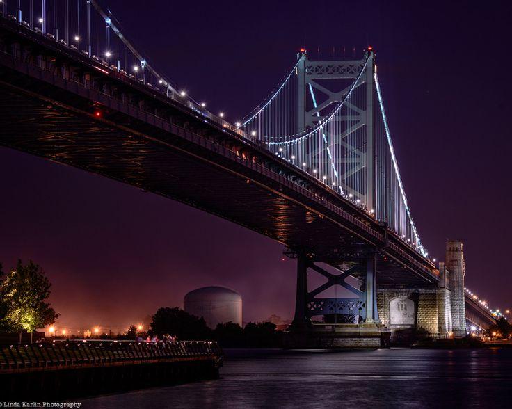Benjamim Franklin Bridge by Linda Karlin on 500px