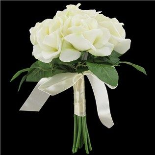 his hers white caroline true touch rose bouquet shop hobby lobby