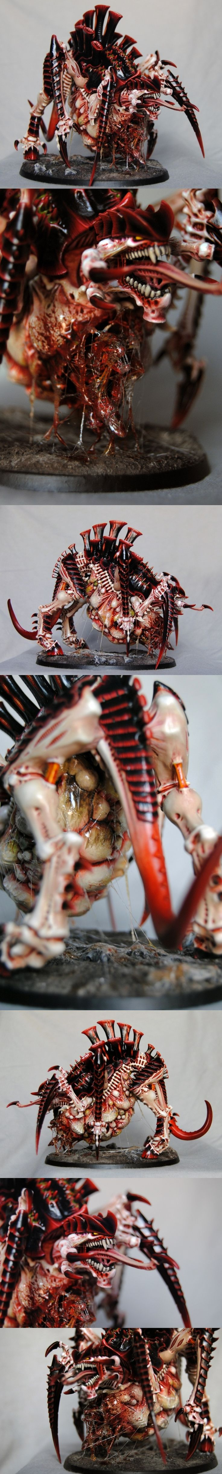 Tyranid Tervigon - different views Idk what that is, but it looks rad & metal as fuck