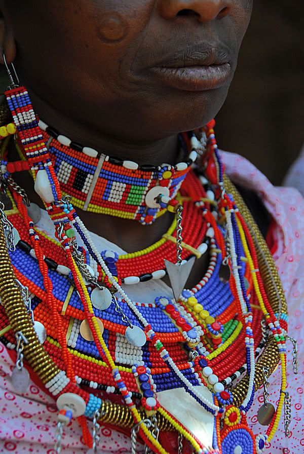 Details about African Maasai Beaded Ornament Masai Massai ...