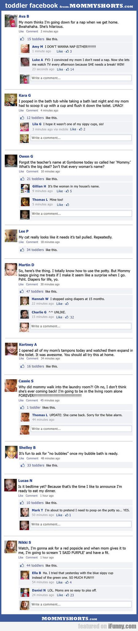 Toddler Facebook - http://www.funnyclone.com/toddler-facebook/