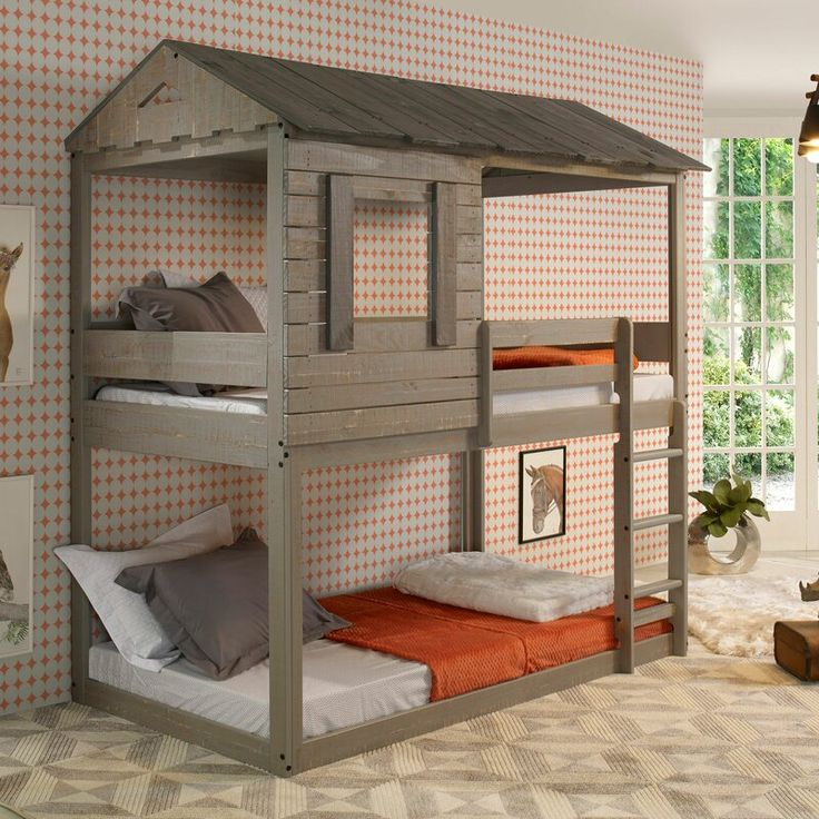 Hogue Bunk Bed in 2020 House beds for kids, House bunk