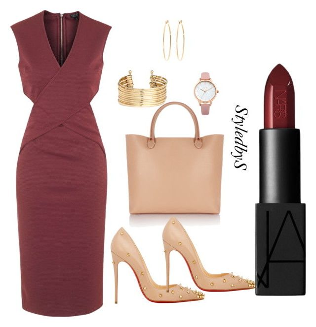 StyledbyS by sforstylebys on Polyvore featuring polyvore fashion style Topshop Christian Louboutin Meli Melo H&M Oasis Brooks Brothers NARS Cosmetics clothing
