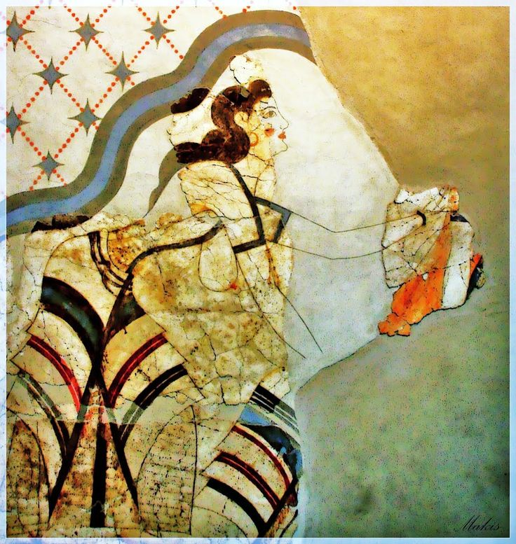 17 best images about santorini on pinterest santorini for Ancient greek mural
