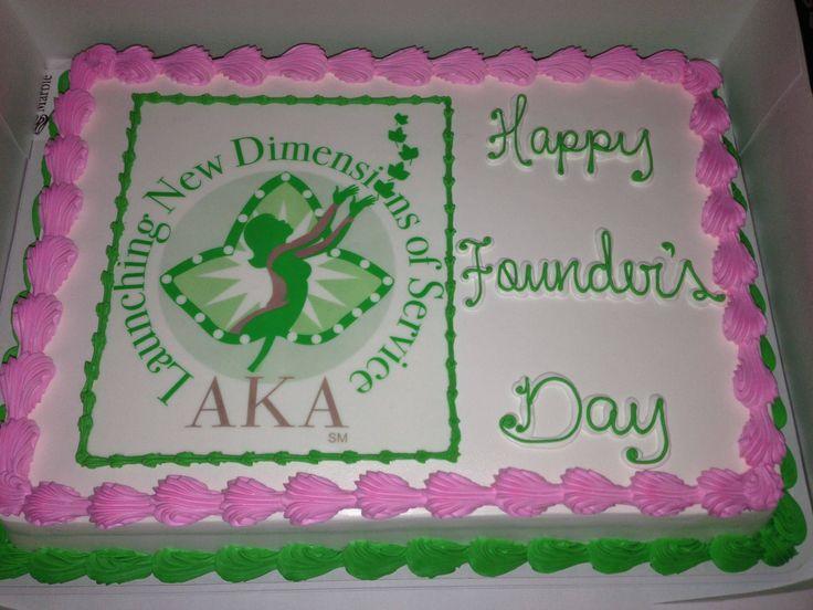 AKA Founders' Day cake