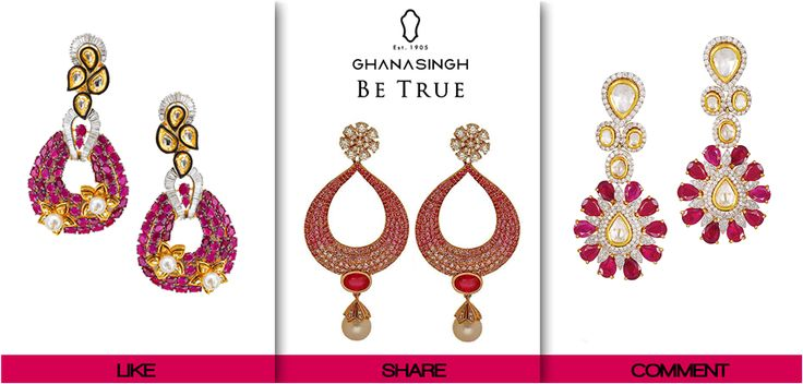 "Ghanasingh 'Be True' believes, ""In order to be irreplaceable, one must always be #Different."" We would love to know how each of you is different from the other, so take your pick! Show us your taste in 'Be True' #Jewellery!"