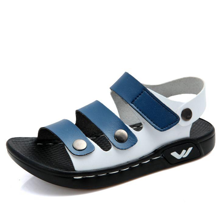 2015 летние дети мальчики обувь кожи на открытом воздухе сандалии обувь Бренда детская обувь пляжные сандалии дети мальчики sandalia sandalias menino