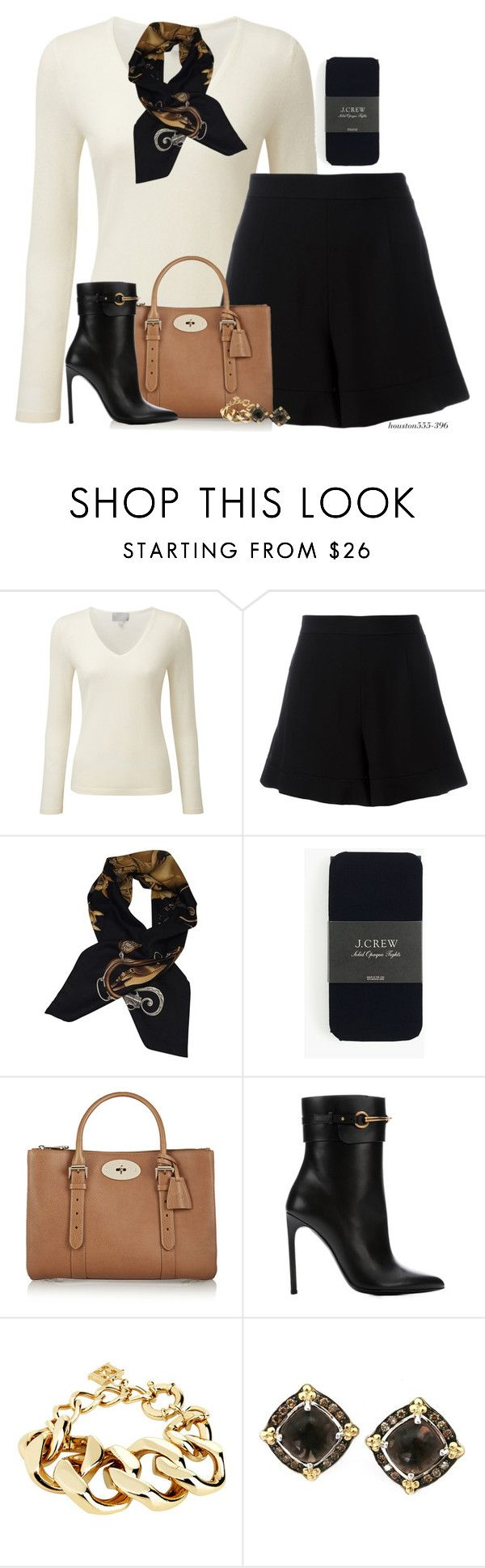 """""""Shorts for Winter"""" by houston555-396 ❤ liked on Polyvore featuring Pure Collection, RED Valentino, Hermès, J.Crew, Mulberry, Gucci and ESCADA"""