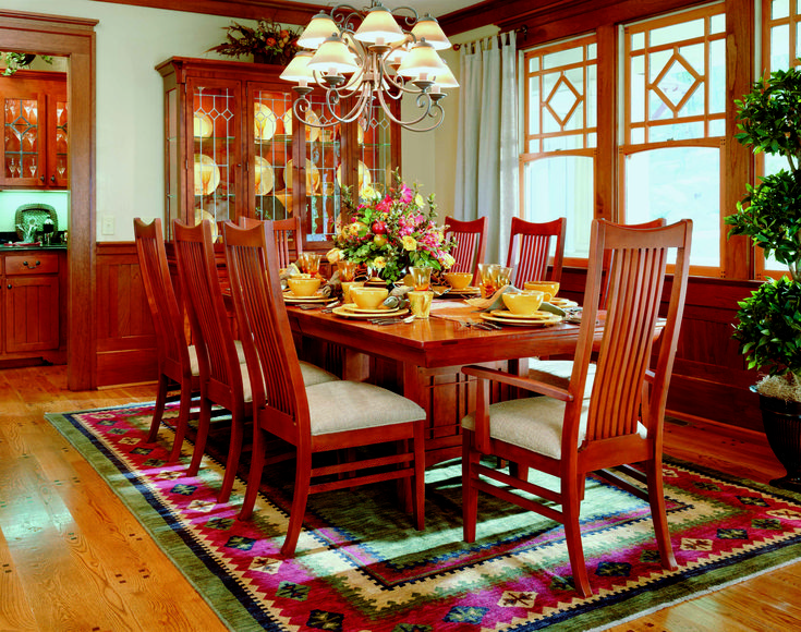 Arts and Crafts inspired Dining Room using Bob Timberlake