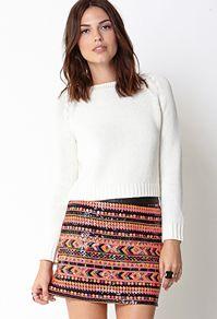 Neon Sequin Skirt