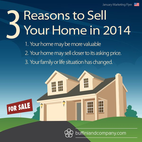 Selling Home: 3 Reasons To Sell Your Home In 2014! #realestate
