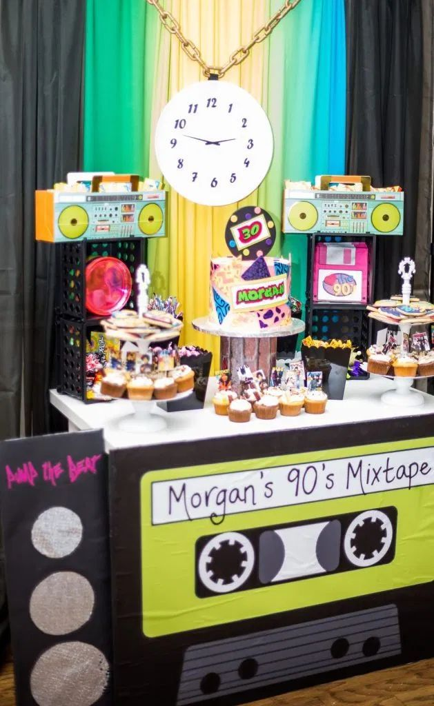 90s Themed Party And How I Broke My Own Rule A Glam Good Time 90s Party Decorations 90s Theme Party 90s Theme Party Decorations