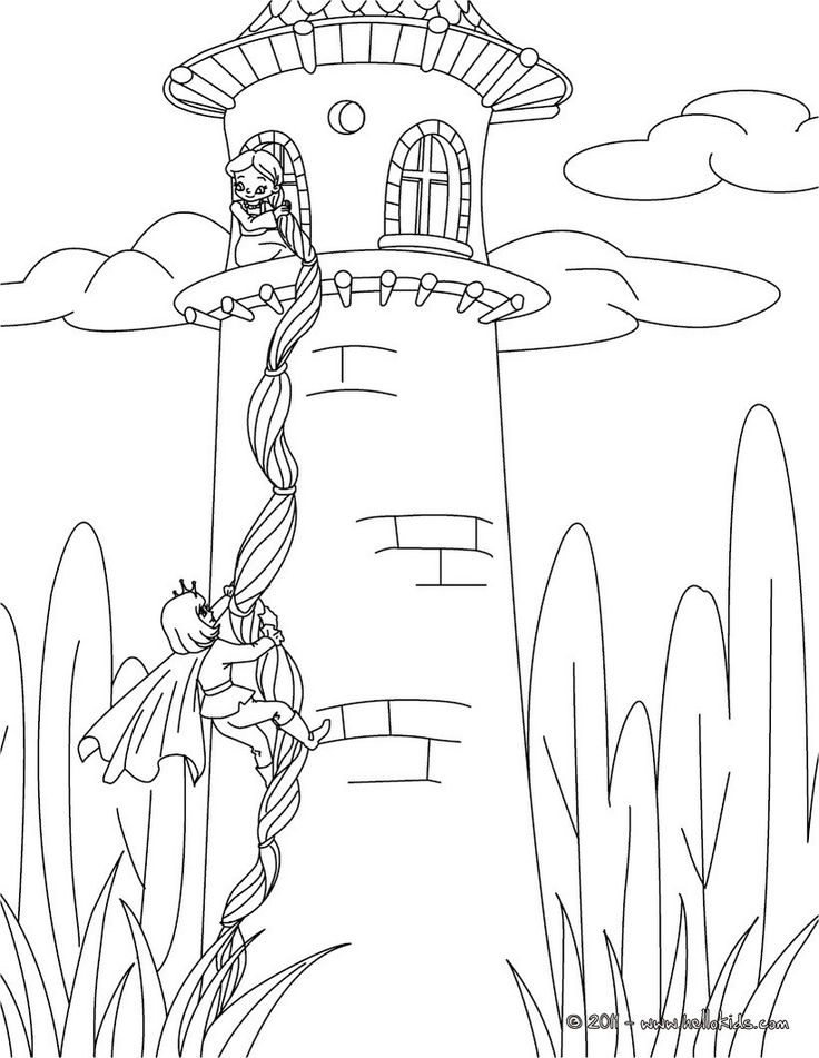 grimm fairy tales coloring pages rapunzel grimm tale coloring pages houses buildings. Black Bedroom Furniture Sets. Home Design Ideas