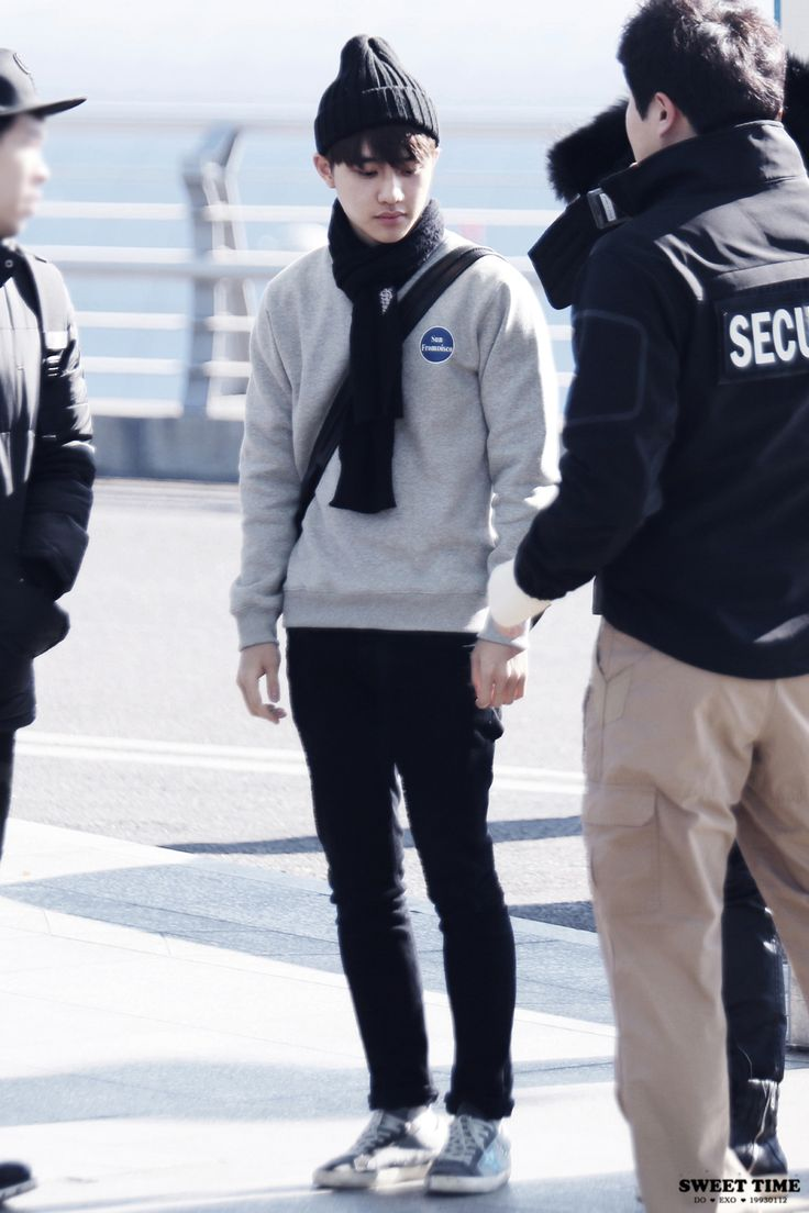 150108- EXO D.O (Do Kyungsoo) at Incheon Airport #exok #fashion #style