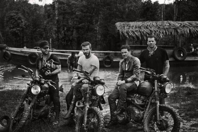 David Beckham and friends in the Amazon Rainforest Anthony Mandler, David Beckham, Dave Gardner, Derek White