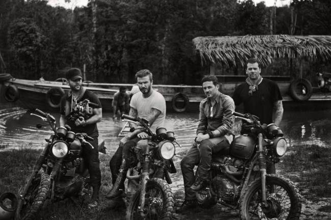 David Beckham and friends in the Amazon Rainforest Anthony Mandler, David Beckham, Dave Gardner, Derek White