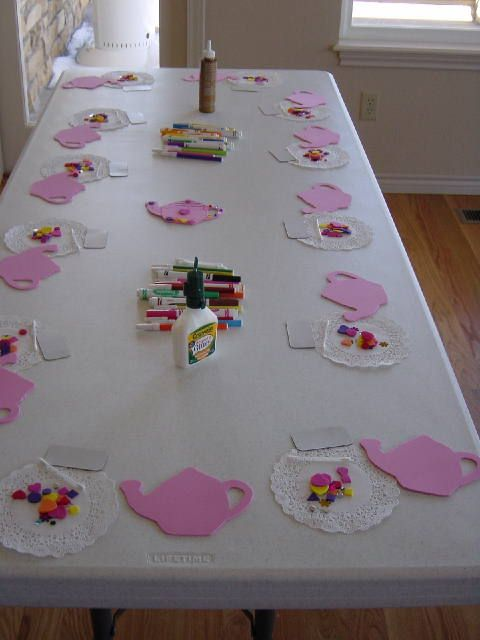 I like the craft but also I can use my cricut to cut out giant tea pots or tea cups to use as place mats at a tea party