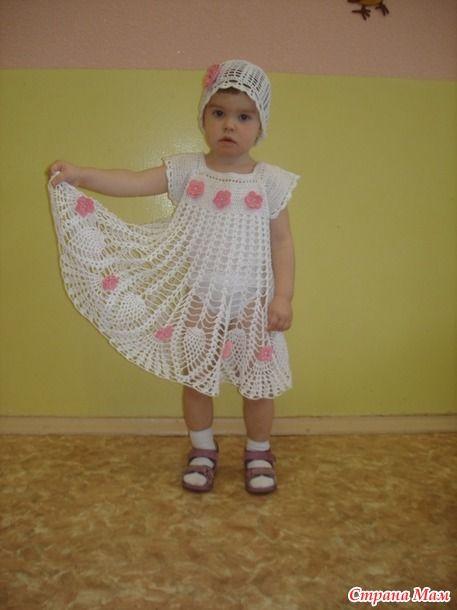Нежно белое платье для малышки 1,5 лет