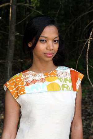 Dress made by Joyce Nemec with Umbrella Prints Trimmings 2012.     (using Vogue pattern #8786)  http://www.umbrellaprints.blogspot.com.au/
