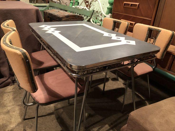Suivant       Ensemble de salle à manger retro 1950 // 1950's Retro dining set // C$650.00