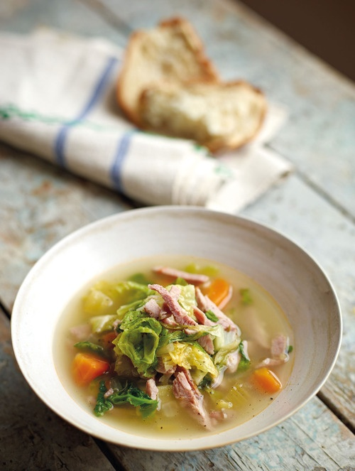 Recipe of the Day: Two Greedy Italians' Soup of Spring Greens and Pork