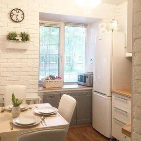 """795 Likes, 17 Comments - Супер КУХНИ НА ЗАКАЗ в Москве (@alla.chuvinova_kuhni) on Instagram: """"Если размеры вашей кухни небольшие, то это не страшно‼️ Всегда есть варианты, как компактно,…"""""""
