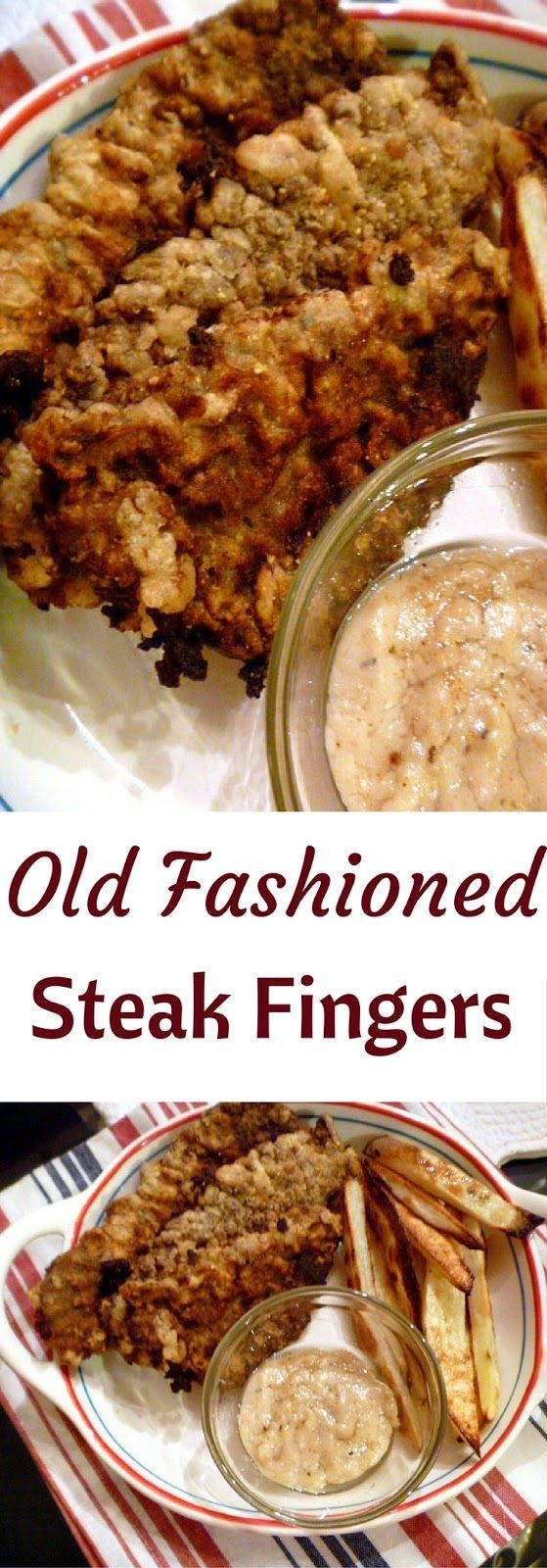 Nothing better than comfort food and that spells Old Fashioned Steak Fingers in our house! Slice of Southern