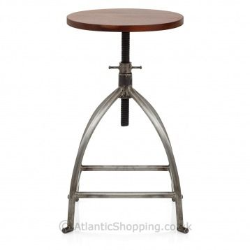 With a screw thread mechanism for adjustable height, the Twist Stool can be used at low height around the table, or elevated at the kitchen worktop.