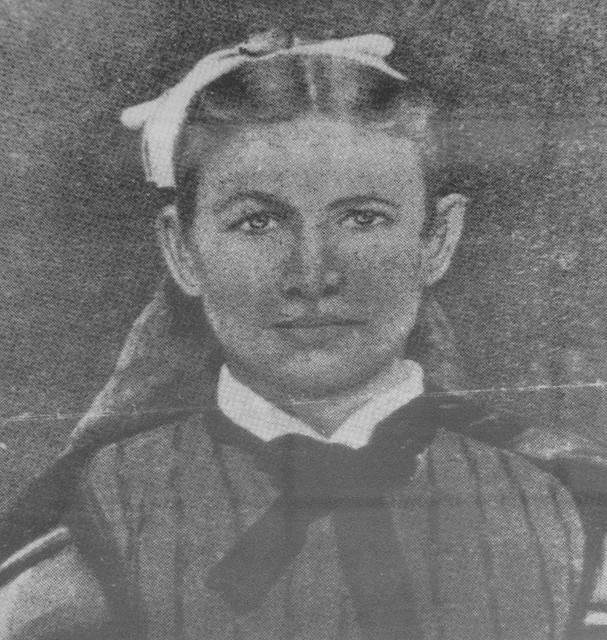 Picture of Catherine McCarty at Old Cowtown Museum in Wichita, Kansas. She was the mother of Billy the Kid, and was the lone woman to sign Wichita's incorporation petition in 1870.