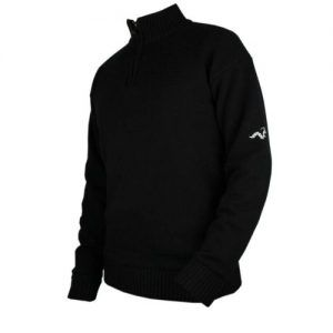 Woodworm Golf Lined Wool Half Zip Sweater L