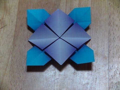 折り紙(おりがみ)・アジサイの折り方(A) - YouTube