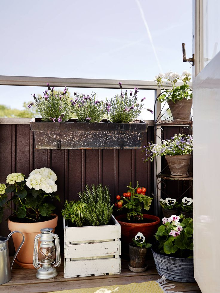 I like this arrangement on a balcony