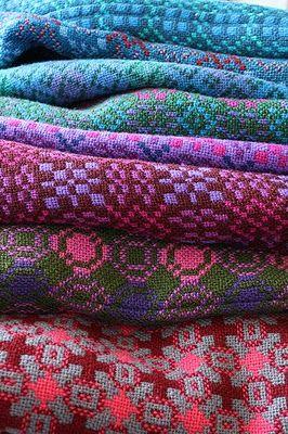 Welsh wool tapestry blankets