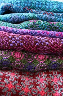 Welsh Wool Tapestry Blankets