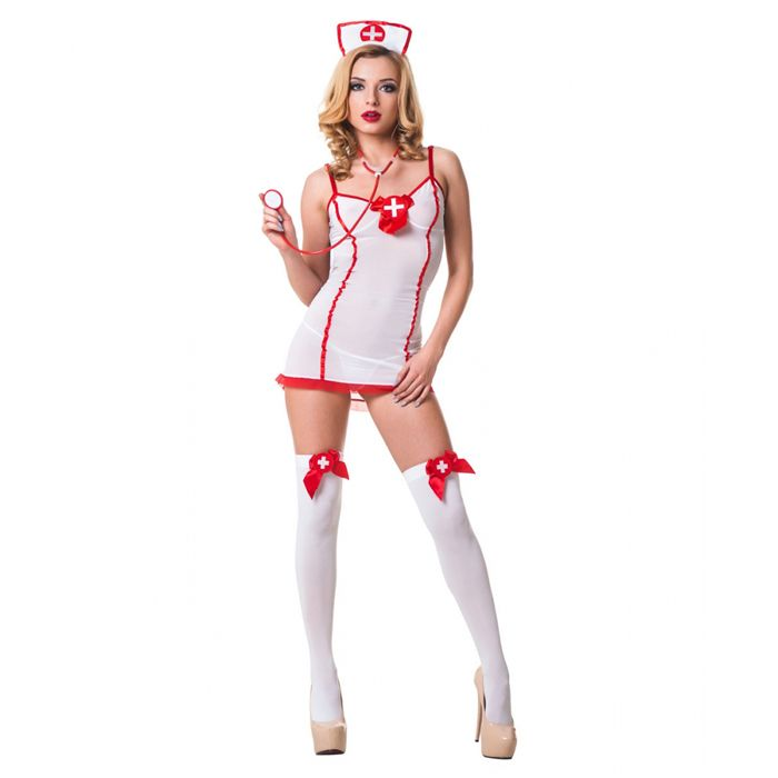 Костюм Сексуальная медсестра, красно-белый. В интернет интим магазин #сексшоп Экстаз #белье #женское #эротическое #ролевое #сексуальное