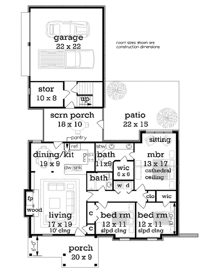 Craftsman House Plan First Floor - 020D-0352   House Plans and More
