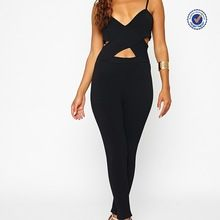 Black cross front bodycon sexy fashion jumpsuits for women 2015 Best Seller follow this link http://shopingayo.space