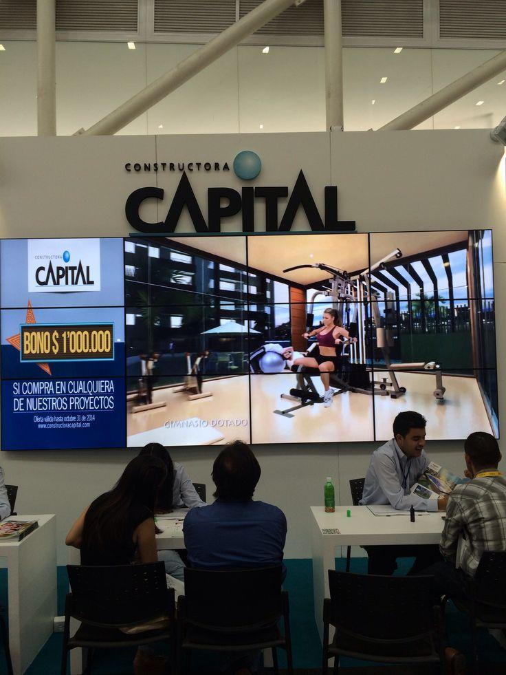Solución de VideoWall Compunetwork para Constructora Capital en la #FeriaDeLaVivienda #Medellín #EnciendeLaExperiencia