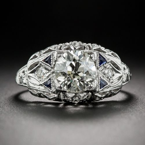 1.24 Carat Art Deco Diamond Engagement Ring