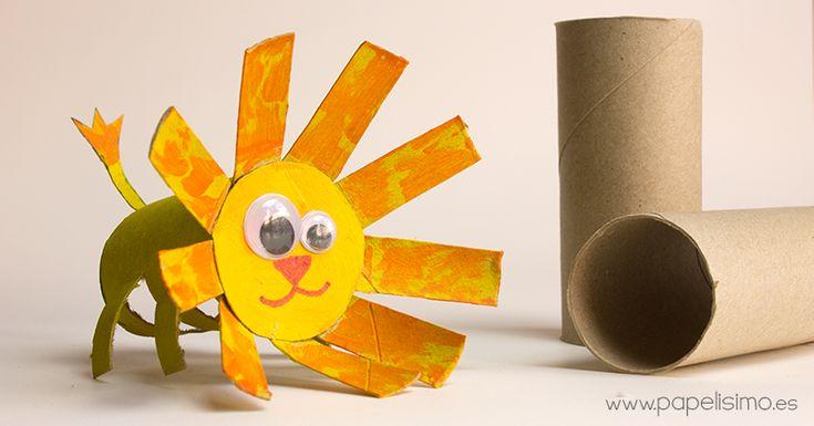 leon rollo carton papel higienico paper tube lion