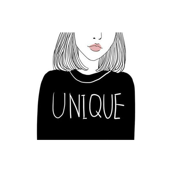 Art girl drawing We Heart It ❤ liked on Polyvore featuring outline