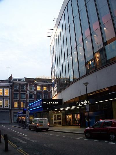 The Parker Street elevation of the New London Theatre 1971 - Present day.