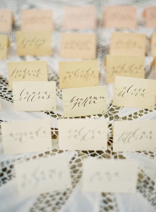 craft ideas for wedding place cards%0A Pretty Ombre Escort Cards  Name CardsCards DiyWedding