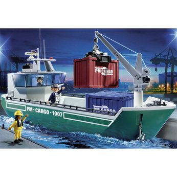 Playmobil Cargo Ship with Crane (5253)