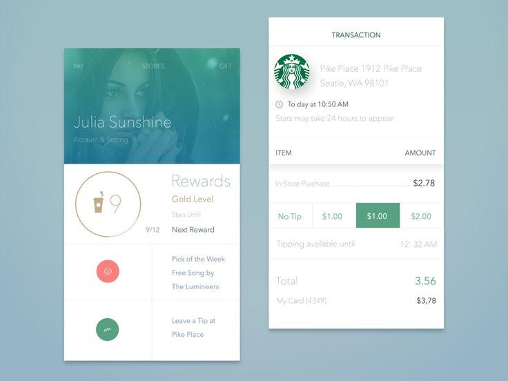 Starbucks App Concept by John Khester